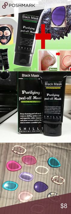 Bundle Deal! Shills Black Mask And a silicone Spon With legions of fans, the FAMOUS & 100% GENUINE black peel-off mask from Shills is here. The ORIGINAL Shills Deep Cleansing Purifying Peel-Off Black Face Mask has earned its superstar status by being the ultimate blackhead-buster. Specially-formulated to unblock clogged pores by peeling blackheads, dirt and spot-causing bacteria away. Activated bamboo charcoal acts like a magnet to draw out the most deeply-rooted impurities while…