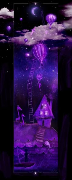 ✯ Harold and the Purple Crayon :: Artist Odessa Sawyer ✯