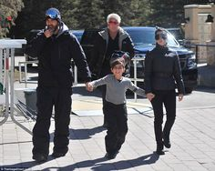 Scott, Mason and Kourtney in Vail