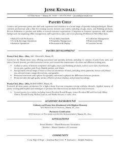 featuring pastry chef head and chef resume and sample chef resume ...