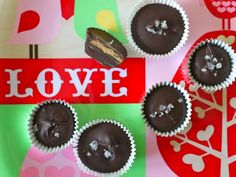 Chocolate Peanut Butter Cups with Sea Salt for Valentines!