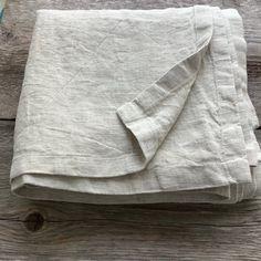 Linen bedspread king Farmhouse bedding | Etsy King Farmhouse Bed, Sofa Throw Cover, Farmhouse Kitchen Curtains, Burlap Valance, Queen Sheets, Cafe Curtains, Natural Linen, Bed Spreads, Linen Bedding