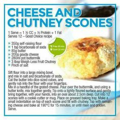 Cheese and chutney scones Healthy Eating Recipes, Healthy Meal Prep, Healthy Snacks, Cooking Recipes, Pastry Recipes, Low Gi Foods, Low Carb Breakfast, Breakfast Club, Good Foods For Diabetics