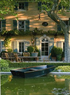 provence Color design - warm yellow of the house; warmth of the sun's rays on the home.
