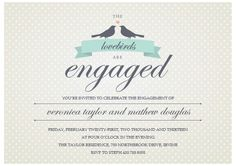 Costco - wedding invitations Love Birds
