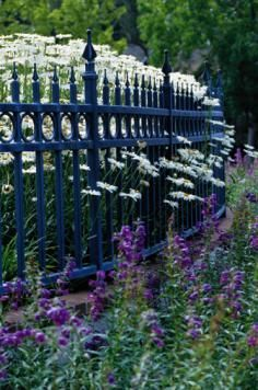 beautiful garden fencing