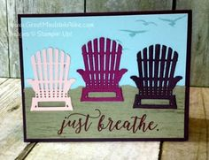 Great Minds Ink Alike Seasonal Layers Adirondack Chair Stampin' Up