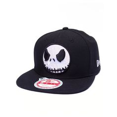 the nightmare before christmas glow jack 950 snapback hat by New Era ($24) ❤ liked on Polyvore featuring accessories, hats, snap back hats, snapback hats y christmas hats