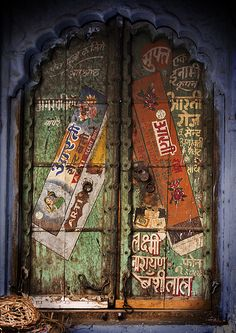 Doors: The taste of Petrol and Porcelain | Interior design, Vintage Sets and Unique Pieces www.petrolandporcelain.com Door in Rajasthan India