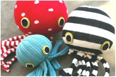 New sew octopus. Cute baby gift idea