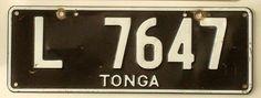 TONGA (Reino de) Licence Plates, Car License Plates, Tonga, Travel, Autos, Viajes, Car Number Plates, License Plates, Destinations