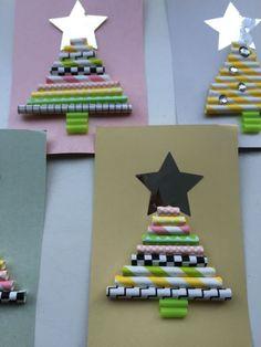 Crafts Christmas - craft ideas Christmas-- Crafts Christmas – DIY ideas for Christmas Modern Christmas, Retro Christmas, Kids Christmas, Handmade Christmas, Christmas Tables, Clay Christmas Decorations, Christmas Card Crafts, Christmas Cards To Make, Company Christmas Cards