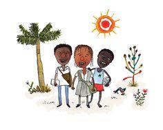 Ilustración para el Informe Anual de Gestión UNICEF Colombia 2015 Moose Art, Objects, Ink, Watercolor, Lettering, Drawings, Illustration, Handmade, Pictures
