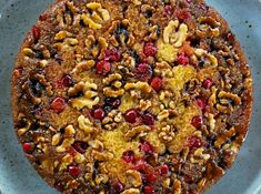 Cranberry Walnut Cake