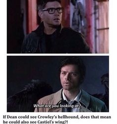 He looks so good in the glasses>> yesss and OMFG WHAT IF HE COULD SEE CAS'S WINGS AHHH