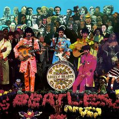 Sgt Pepper - 1967 -- cover art designed by the pop artists Peter Blake and Jann Haworth from an ink drawing by McCartney