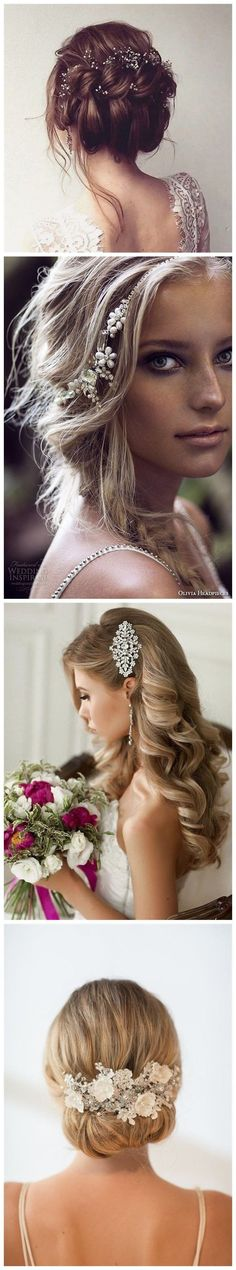 Wedding Hairstyles » Hair Comes the Bride – 20 Bridal Hair Accessories Get Style Advice for Any Budget ❤️ See more: http://www.weddinginclude.com/2017/03/hair-comes-the-bride-bridal-hair-accessories-get-style-advice-for-any-budget/ #weddinghairstyles