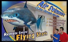 Amazon.com: Air Swimmers Remote Control Flying Shark: Toys & Games