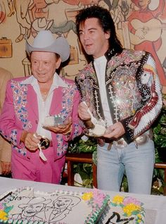 Very cool outfits--Little Jimmy Dickens and Marty Stuart