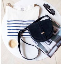 Inspiration marin avec Sézane #sac #marin #marinière  #spring #sezane #printemps