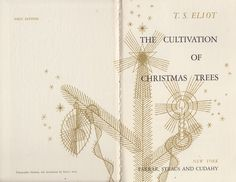 "T. S. Eliot's ""The Cultivation of Christmas Trees"": A Rare Vintage Gem, Illustrated by Enrico Arno 