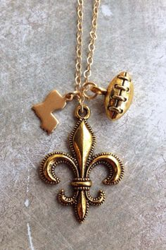 Fleurty Girl - Everything New Orleans - Louisiana Charm Necklace, $19.