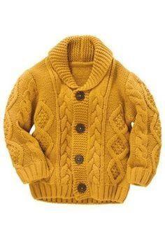 Ideas knitting patterns boys cardigans for 2019 Baby Knitting Patterns, Baby Boy Knitting, Knitting For Kids, Knitting Designs, Free Knitting, Baby Boy Cardigan, Cardigan Bebe, Cable Knit Cardigan, Cardigan Pattern