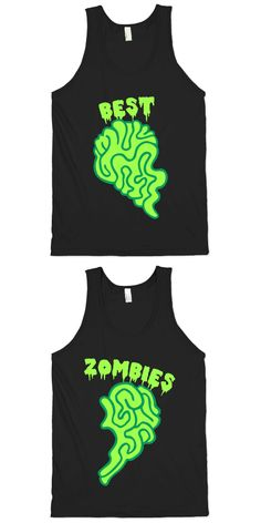 Zombies can be best friends forever. At least until the food supply runs out. Get together with your fellow zombie bffs with this sweet pair of designs.