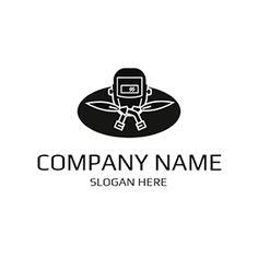 White and Black Welding Equipment logo design Custom Logo Design, Custom Logos, Welding Companies, Welding Logo, Company Names, Company Logo, Welding Equipment, Online Logo, Logo Maker