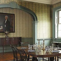 Morris-Jumel Mansion dining room filled with Federal details : This Old House Old Mansions Interior, Mansion Interior, Architecture Details, Interior Architecture, Interior Design, Classical Architecture, Historic Architecture, Federal Style House, American Interior