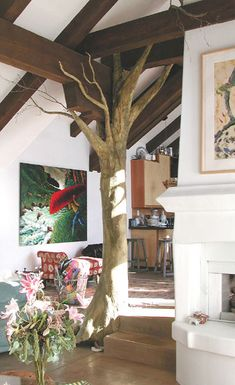 I would love to bring in (or even make) a giant tree into the classroom and hang fairy lights from it.