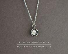 Custom moon phase necklace