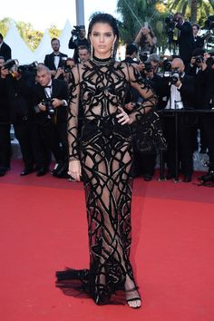 Cannes 2016: Red Carpet Picks | Kendall Jenner in Cavalli Couture and Elie Saab | http://brideandbreakfast.hk/2016/05/24/cannes-2016-red-carpet-picks/