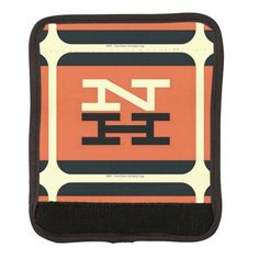 New Haven Railroad Logo Luggage Handle Wrap -$11.95 -Travel in style with a custom luggage handle wrap! This luggage accessory securely wraps around your luggage handle to avoid mix-ups and ensures speedy carousel pick-ups. Display your photos, designs, and monograms on a luggage handle wrap to jazz up your suitcases, weekenders, or even gym bags!