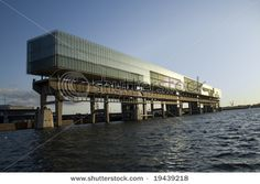 building on jetty Building Images, Marina Bay Sands, Opera House, Stock Photos, Google Search, Water, Gripe Water, Opera