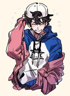 cartoon art Se parce a Keith (-) Cartoon Art Styles, Cute Art Styles, Really Cool Drawings, Cute Drawings, Japon Illustration, Cartoon Kunst, Arte Sketchbook, Dibujos Cute, Cute Anime Guys