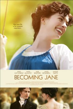 Becoming Jane - Famed romantic novelist Jane Austen has a personal life as dramatic as any of her fictional characters in this historical drama. Jane (Anne Hathaway) rejects the advice of her parents, who want to see her married to the nephew of a we Becoming Jane, See Movie, Film Movie, Anne Hathaway, Austenland Movie, Jane Austen Book Club, Imagine Song, Chick Flicks, Movie Tickets