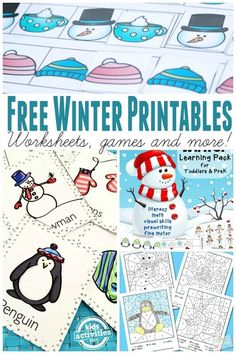 Learning Free Winter Printables - From Worksheets to Games