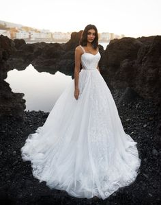 Wedding Dresses Discover Princess wedding dress SOMALIE with long train by Blammo-Biamo Dream Ocean collection 2019 Cute Wedding Dress, Princess Wedding Dresses, Best Wedding Dresses, Bridal Dresses, Bridesmaid Dresses, Wedding Dress Long Train, Tulle Wedding, Prettiest Wedding Dress, Princess Bridal