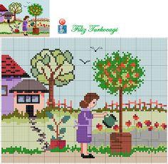Artık bahçelere çıkıyoruz. Burada biraz kalacağım, isterseniz sizler de eşlik edebilirsiniz :) Designed by Filiz Türkocağı...