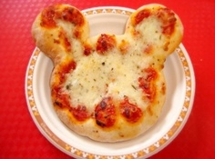 Mickey Pizza   We could make pizza!! Or puff Pasternak samosas in that shape! Or cutlets!!!