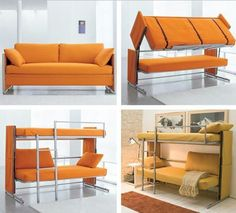 New York based company Resource Furniture offers variety of really good space saving furniture designs. The products from Resource Furniture offer high Resource Furniture, Ikea Sofas, Italian Furniture Design, Sofas For Small Spaces, Transforming Furniture, Bunk Bed Designs, Space Saving Furniture, Apartment Furniture, Bed Furniture