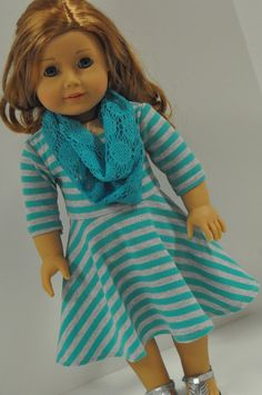American Girl Doll Clothes Stylish Turquiose and by CircleCSewing.