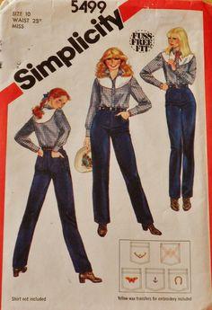 Jeans Western Style  Pants Misses