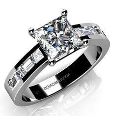 Grazia #Diamond #Engagement Ring. http://www.mydiamonds.com.au/engagement-rings/white-gold-engagement-rings/grazia-complete-0-50-princess-diamond-engagement-ring-18k-461