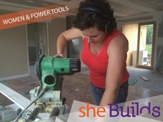 Do you want to upskill and start using during your and projects at Here's my top tips for women renovators. Used Power Tools, Cartoon Styles, Powerful Women, Carpentry, Drill, Investing, Home Improvement, Woodworking, Crafty
