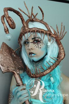 Angler Fish Costume, Anglerfish Costume, Fish Costumes, Google Search, Headpiece Fish, Starfish Costume, Anemone Costume, Angler Fish Makeup, Costume Fish