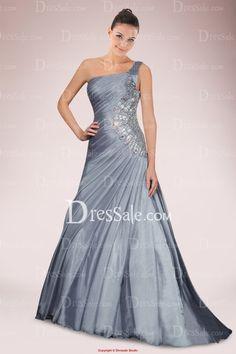 Exquisite Organza One-shoulder Mermaid Evening Dress Featuring Asymmetrical Pleats and Rhinestone Motifs