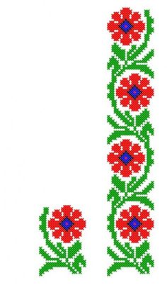 FL049 Cross Stitch Borders, Cross Stitch Rose, Cross Stitch Flowers, Cross Stitch Designs, Cross Stitching, Cross Stitch Patterns, Indian Embroidery Designs, Hand Embroidery Art, Embroidery Patterns Free