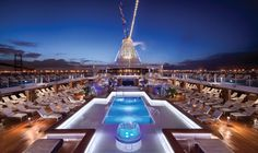 The pool onboard an Oceania cruise ship